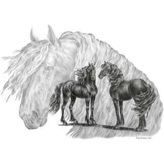 Friesian Horse Art