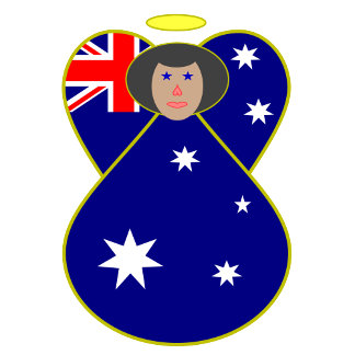 Australian Angel Flag Black Hair
