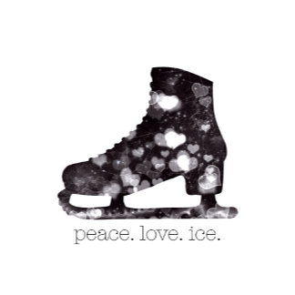 Peace Love Ice Figure Skate