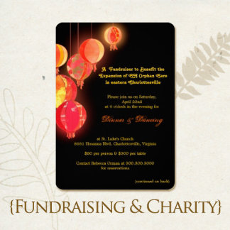 Fundraising, Charity, Auction Invitations