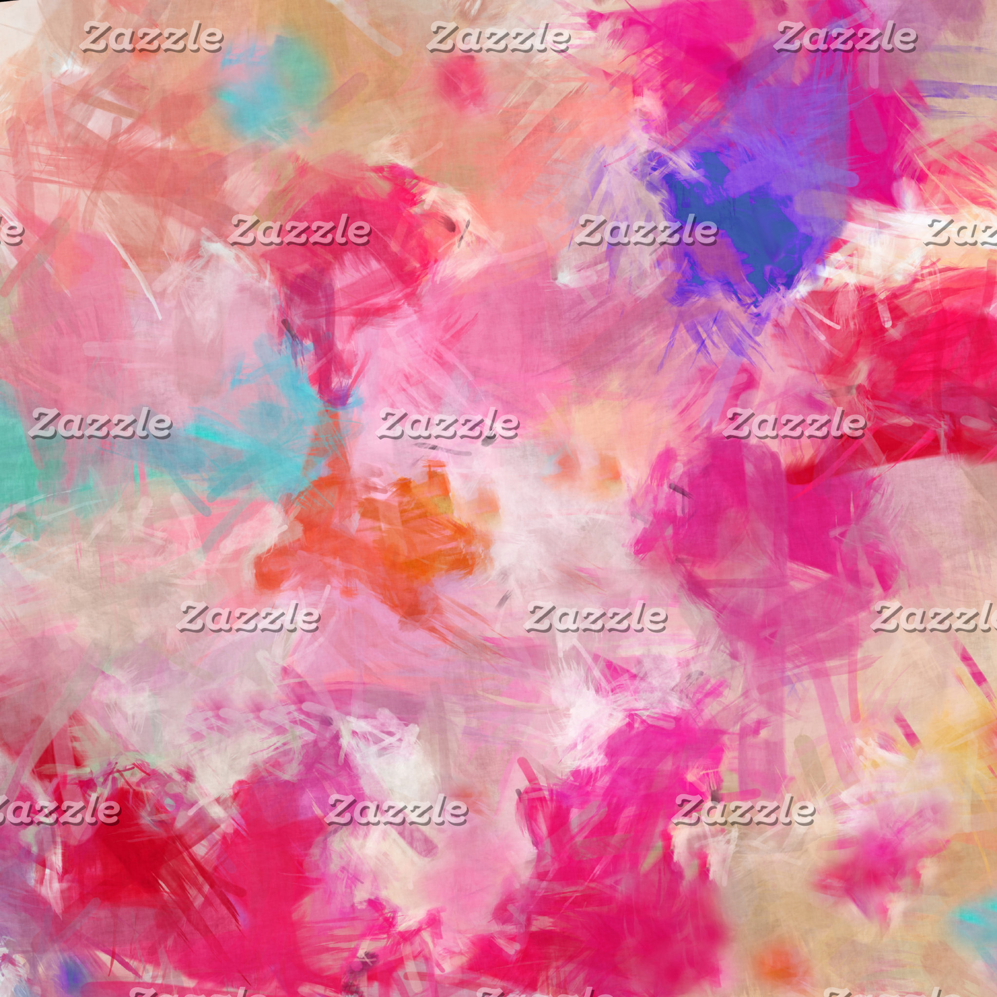 Abstract Spring Flower Field