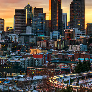 Columbia center and downtown Seattle, Seattle