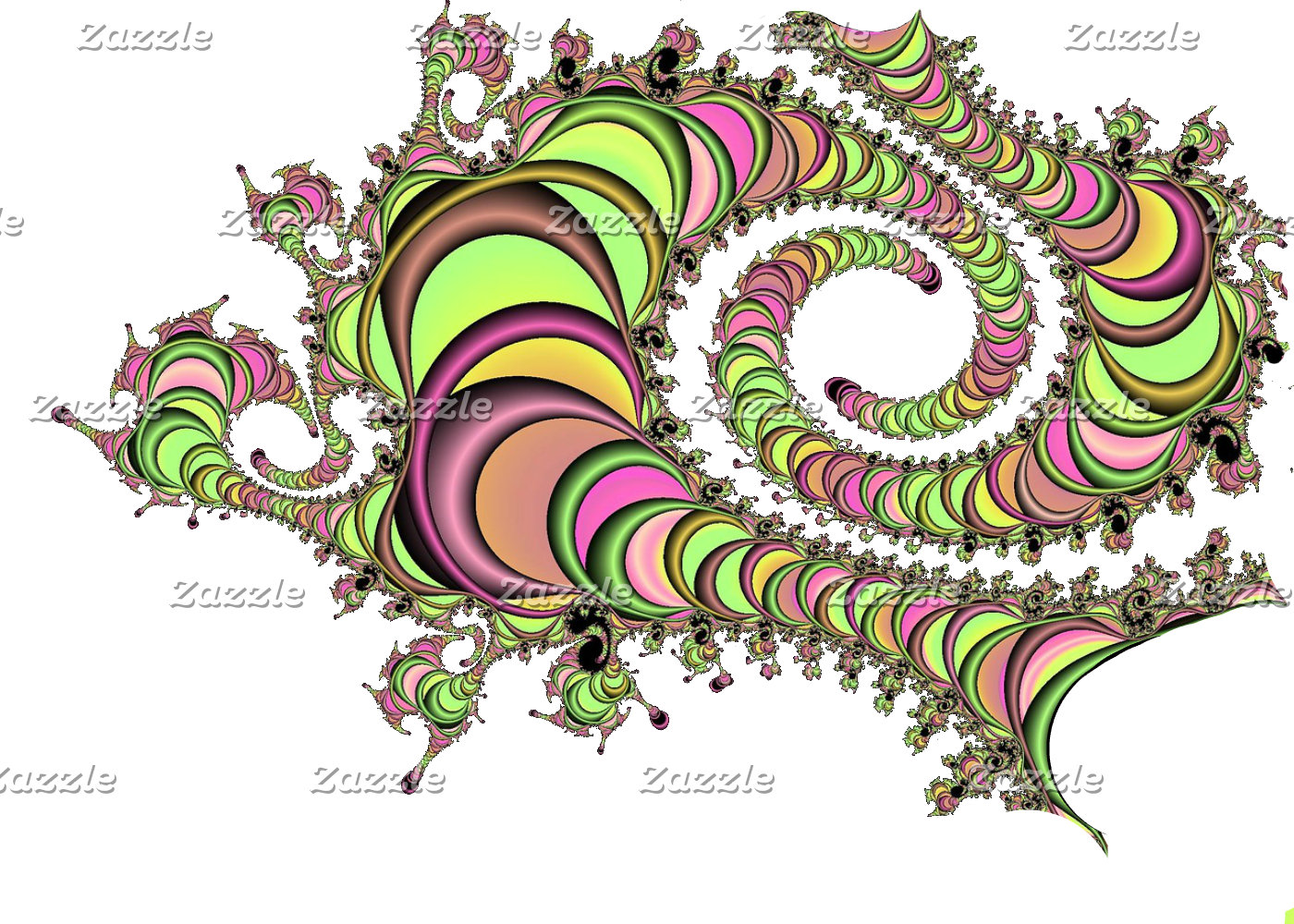 Abstract Tube Colorful Art