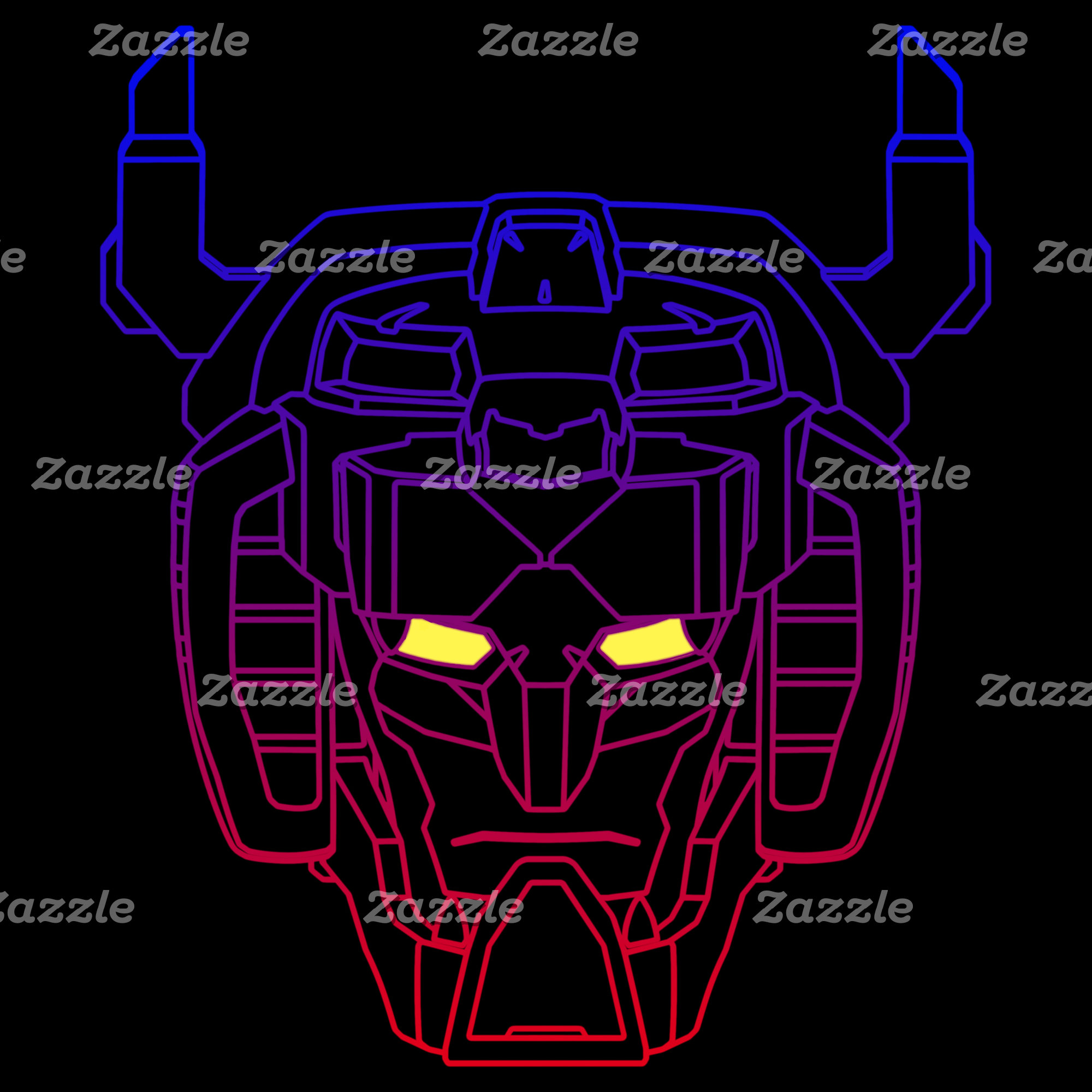 Voltron | Blue-Red Gradient Head Outline