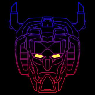 Voltron | Blue-Red Gradient Head Outline