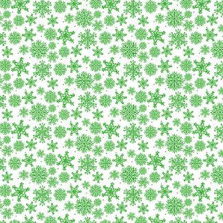Green snowflakes