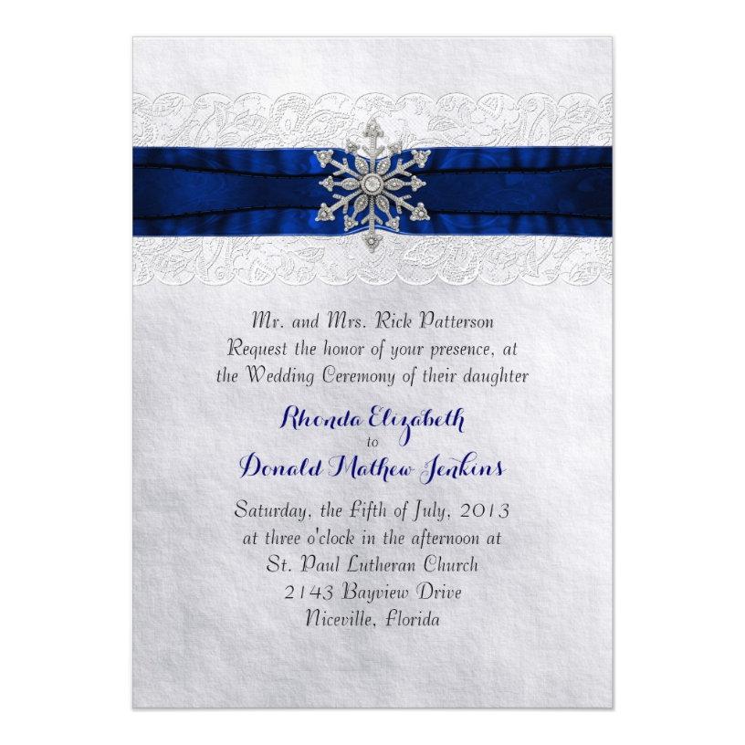 Elegant Jeweled Snowflake Wedding Products