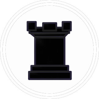 Black Rook Chess Piece
