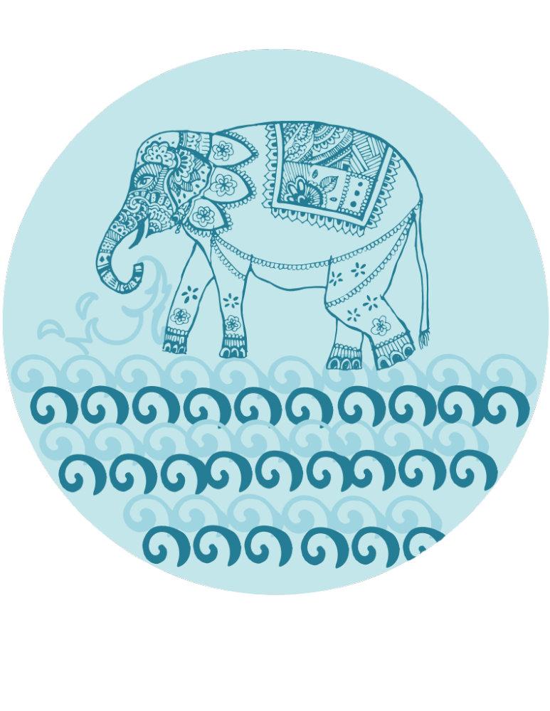 Blue Indian Elephant