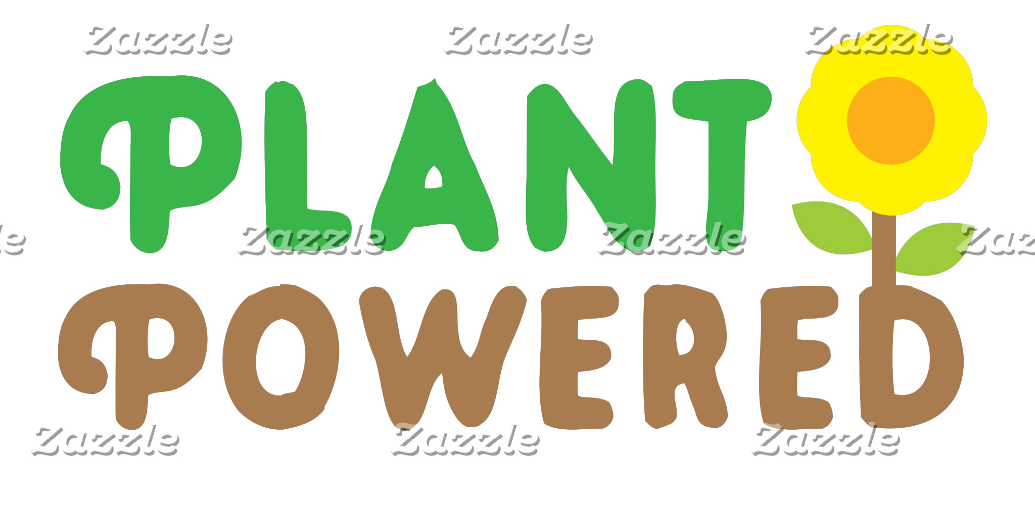plant powered with cute sunflower