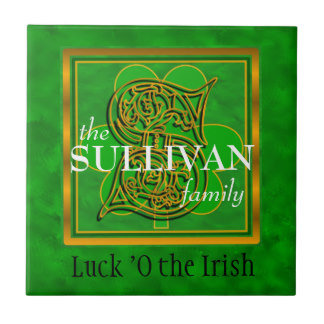 A-Z Luck O the Irish Family Tile
