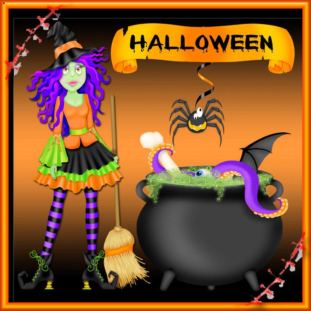 Trendy Halloween Witch Cauldron
