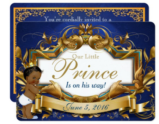 Royal African Prince Baby Shower