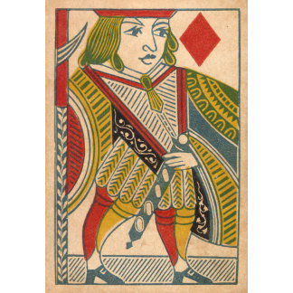 """Jack of Diamonds Card Poster Print"""