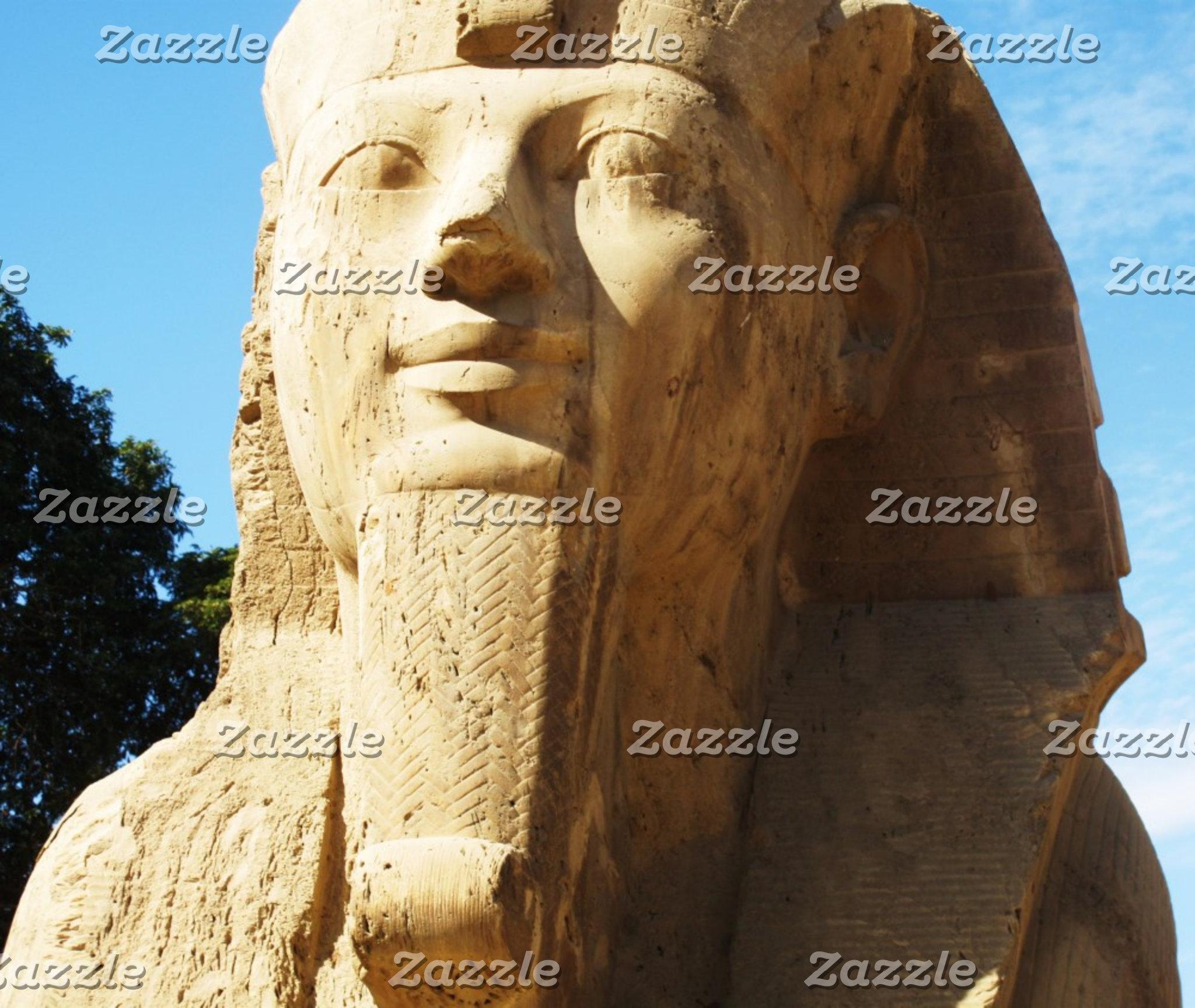 Alabaster sphinx, Memphis, Egypt