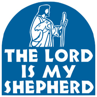 The Lord is my Shepherd Blue