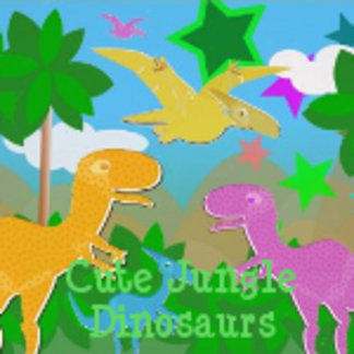Cute Jungle Dinosaurs