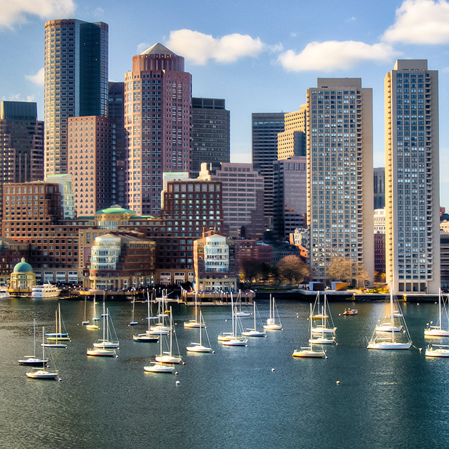 Boston skyline from waterfront
