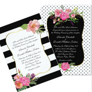 Watercolor Peonies Wedding Set