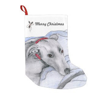 Greyhound Christmas stockings
