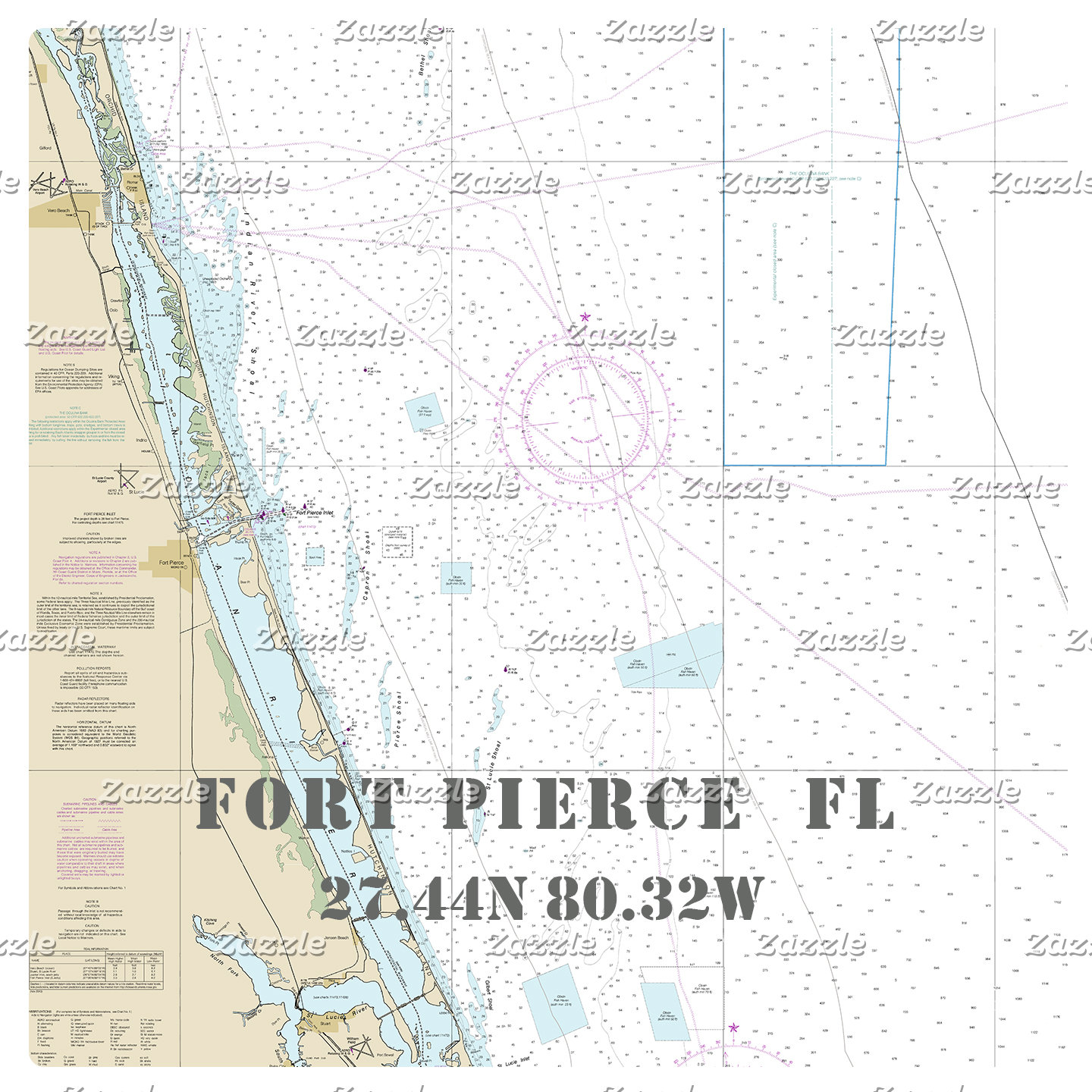 Nautical Boating Charts: Fort Pierce Florida