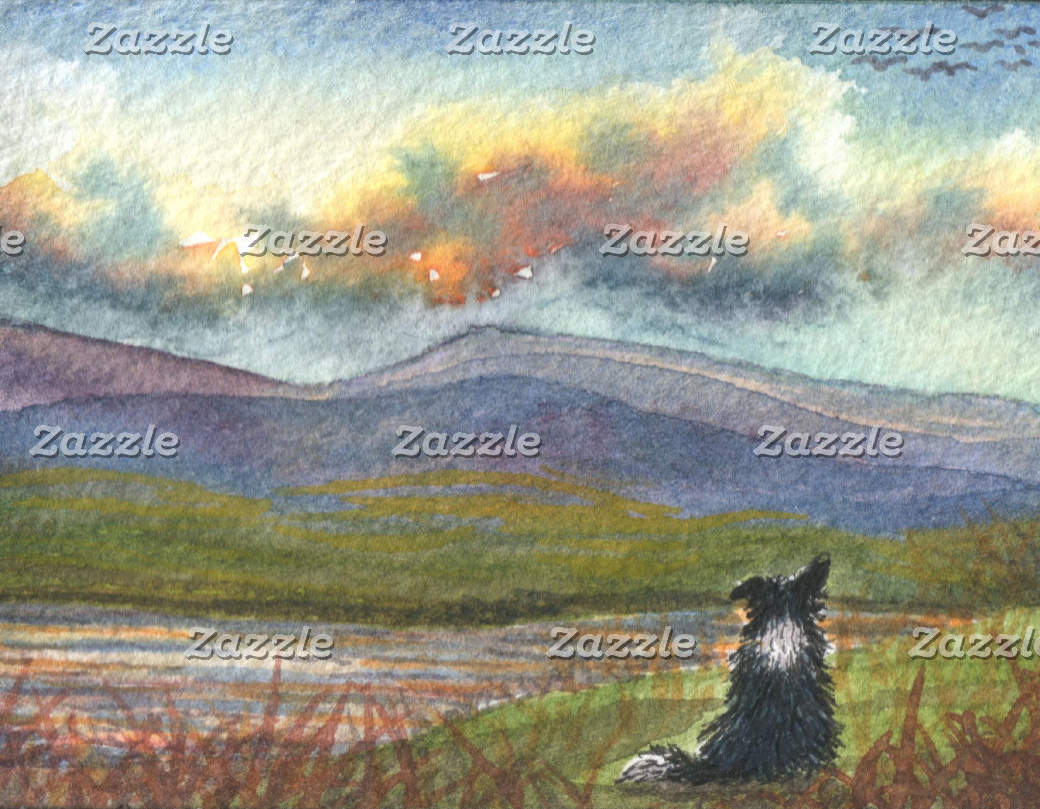 Dog in Landscape Series