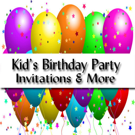 Kid's Birthday Party Invitations and More!