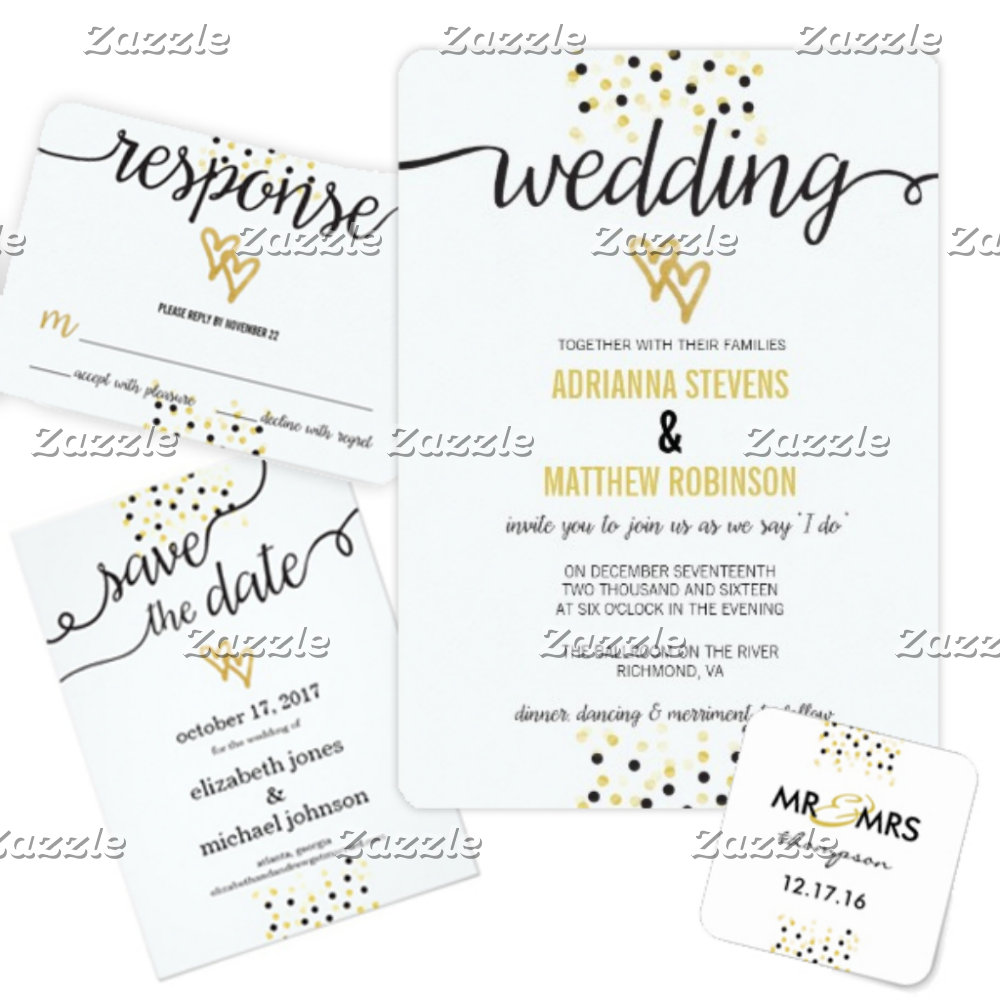 Gold Confetti Wedding