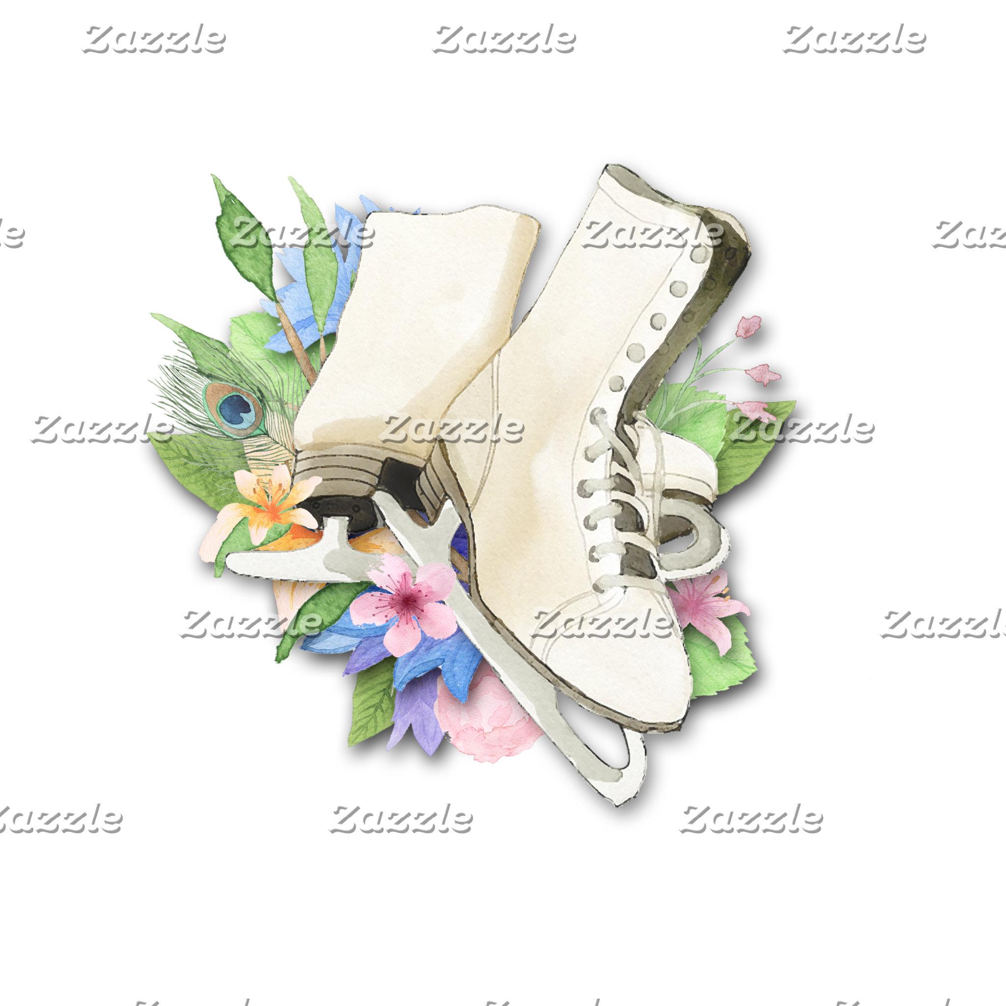(A)  Watercolor Figure Skates