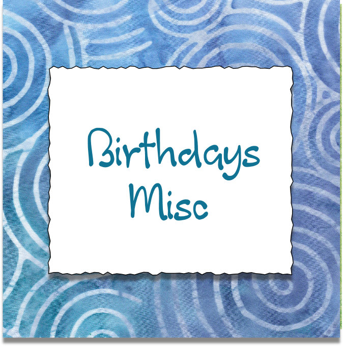 BIRTHDAY MISC