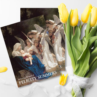 Religious Funeral Sympathy Thank You Cards