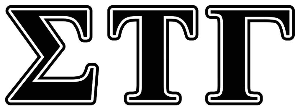 Sigma Tau Gamma Black Letters