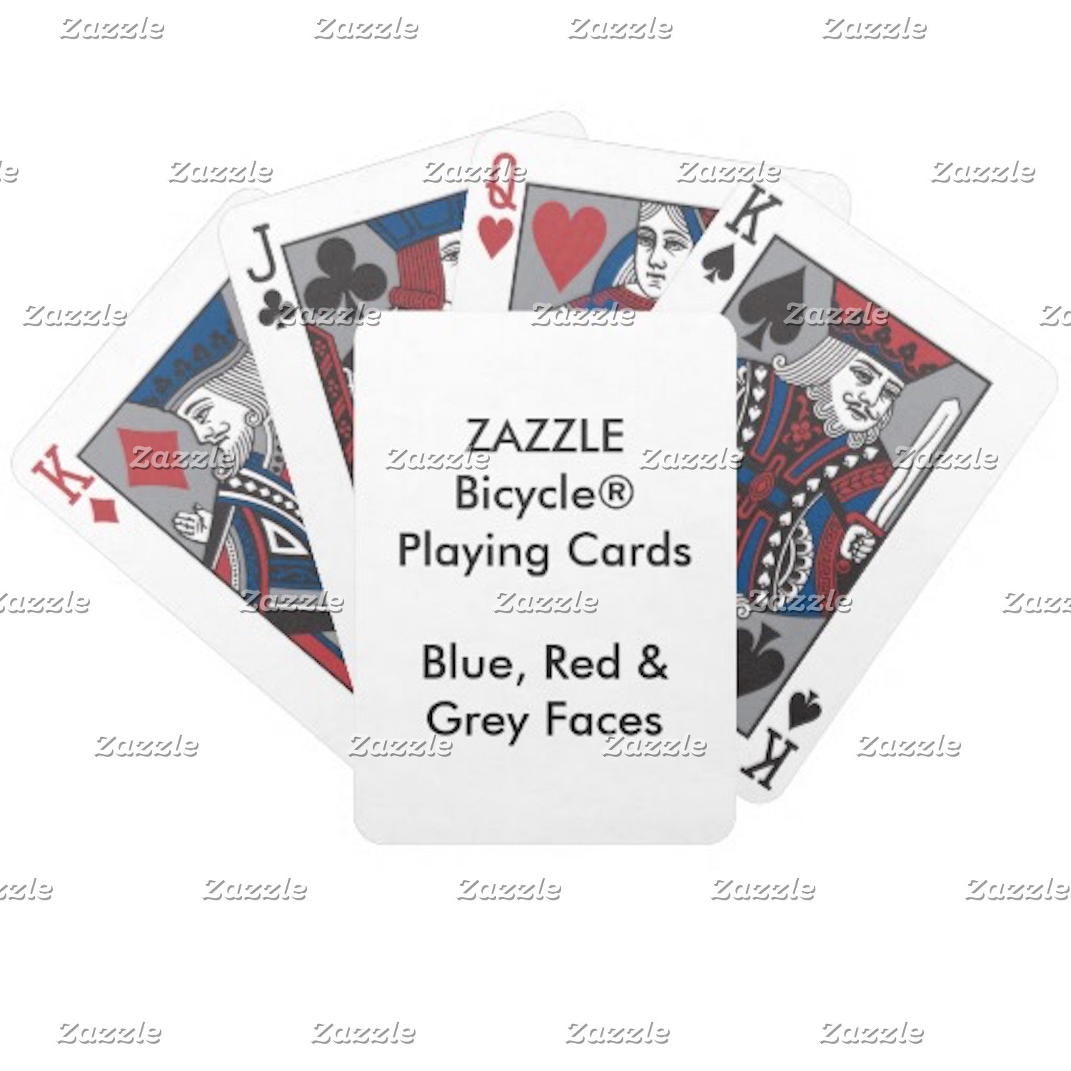 Bicycle® BLUE, RED & GRAY Faces