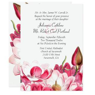 Pink Magnolia Wedding Set
