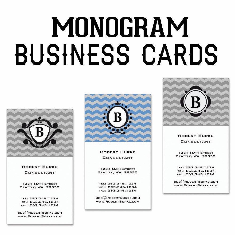 Monogram Business Cards