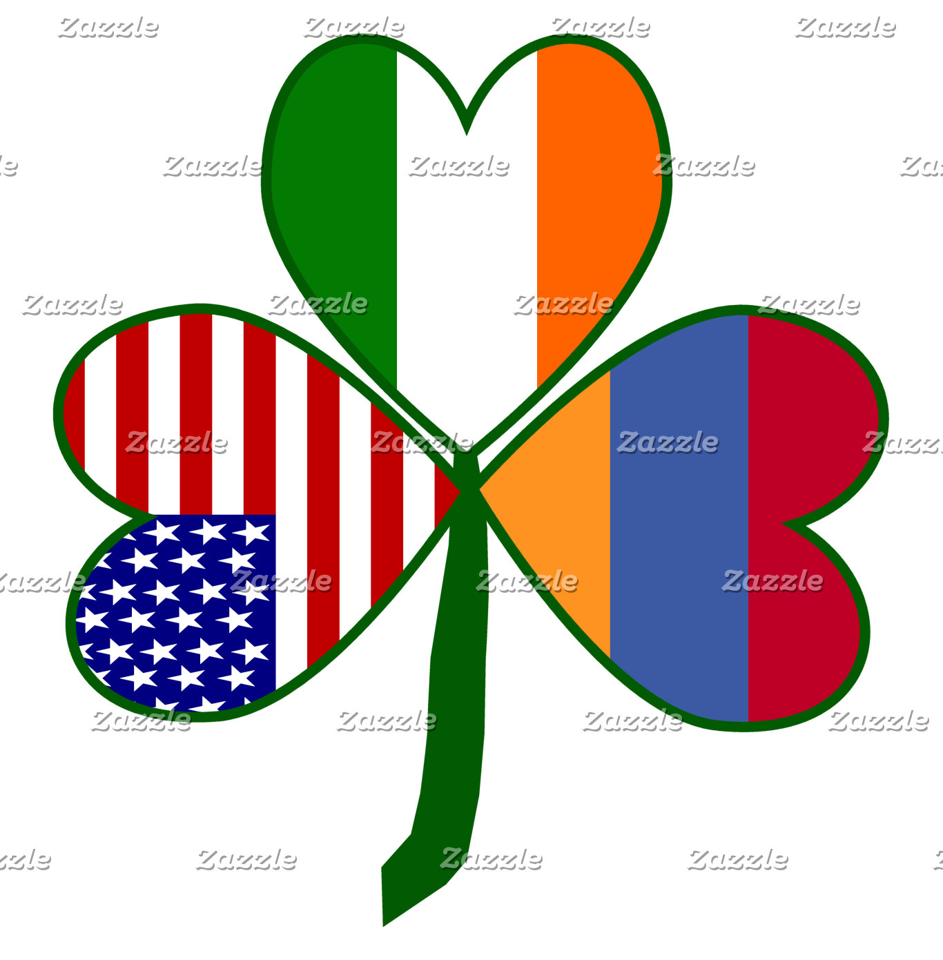 Armenia Shamrock Flag