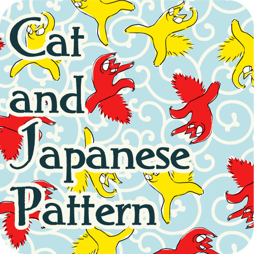 Cat and Japanese Pattern
