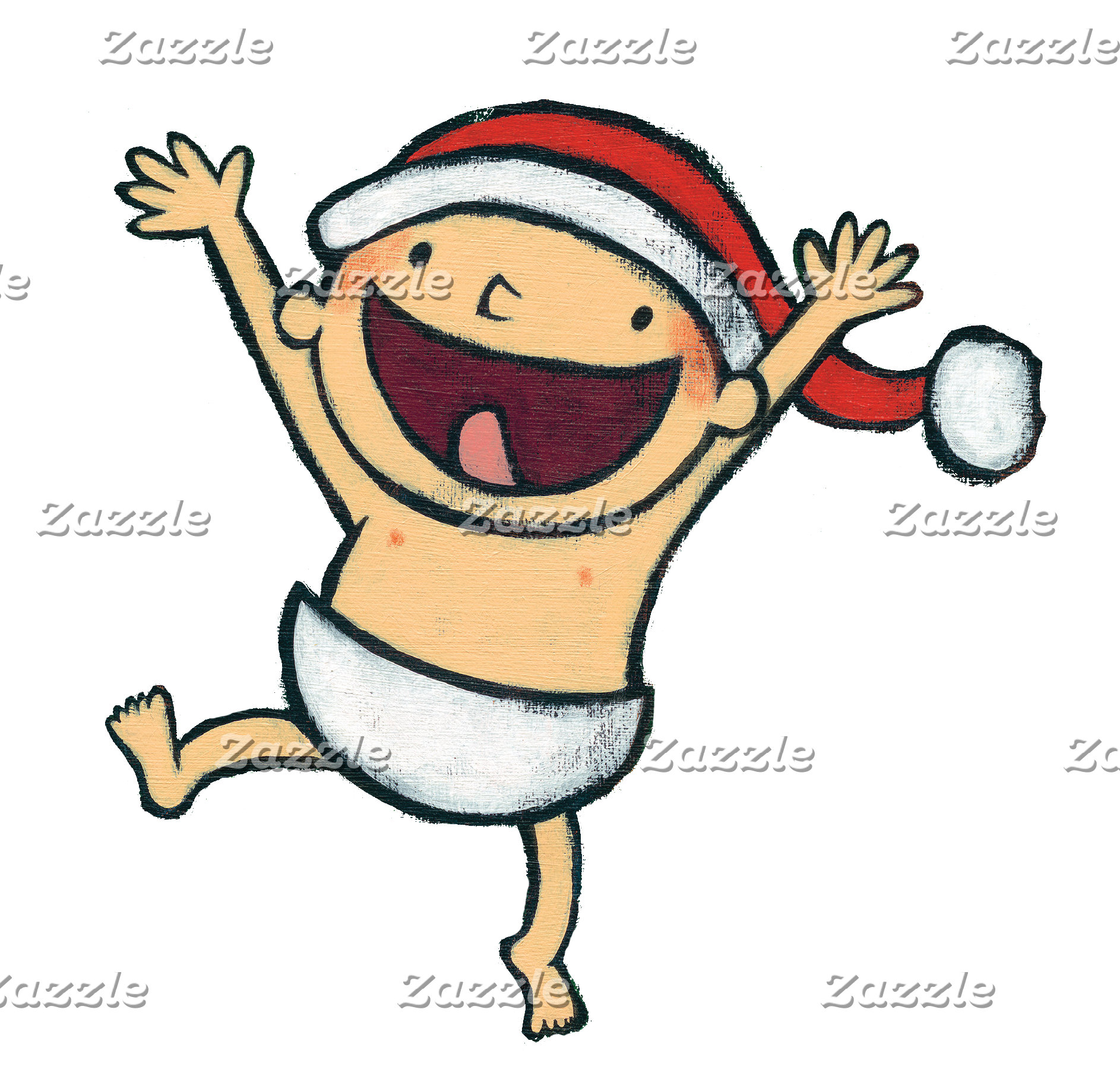 Leslie Patricelli's Baby Dancing In Santa Hat