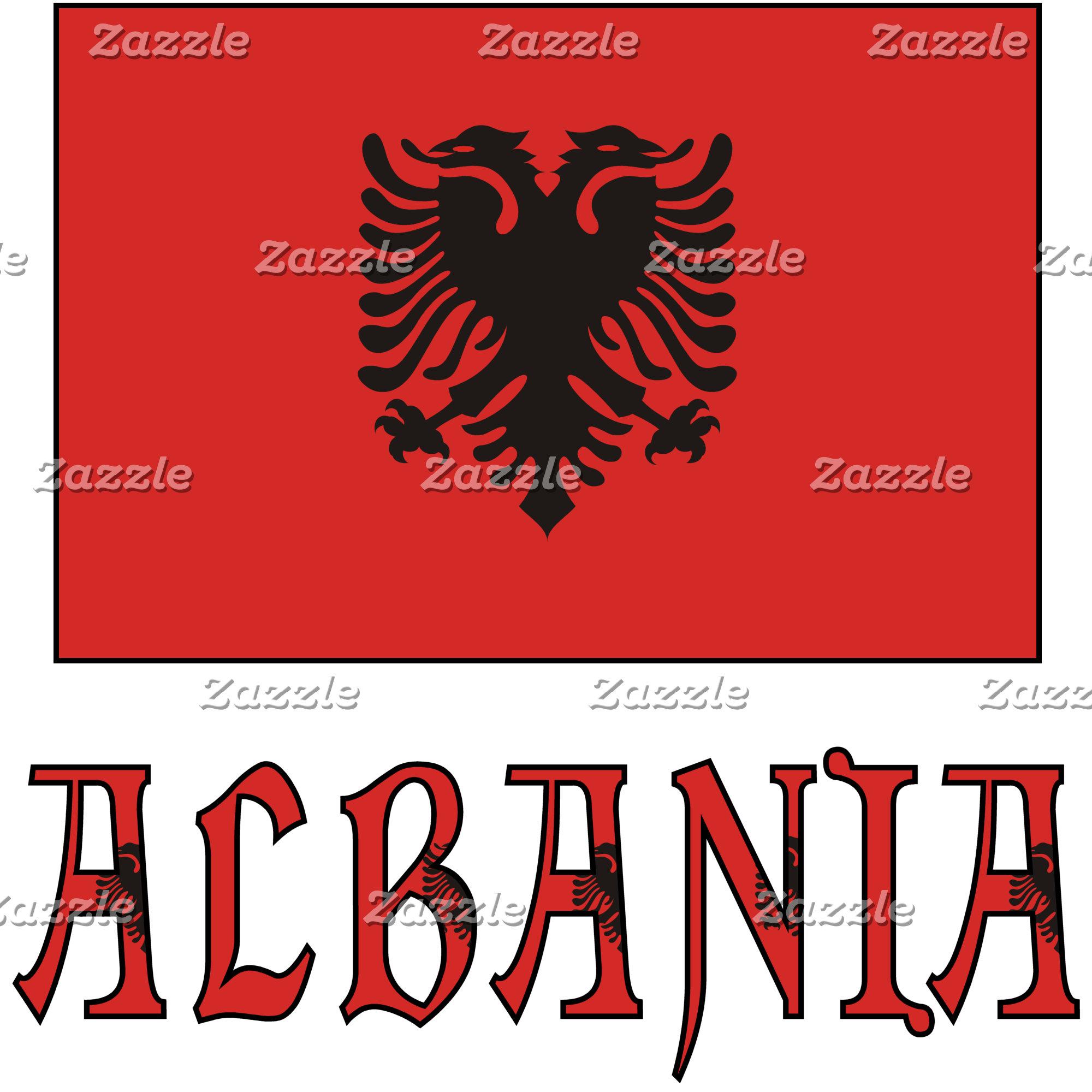 Albanian Flag and Albania