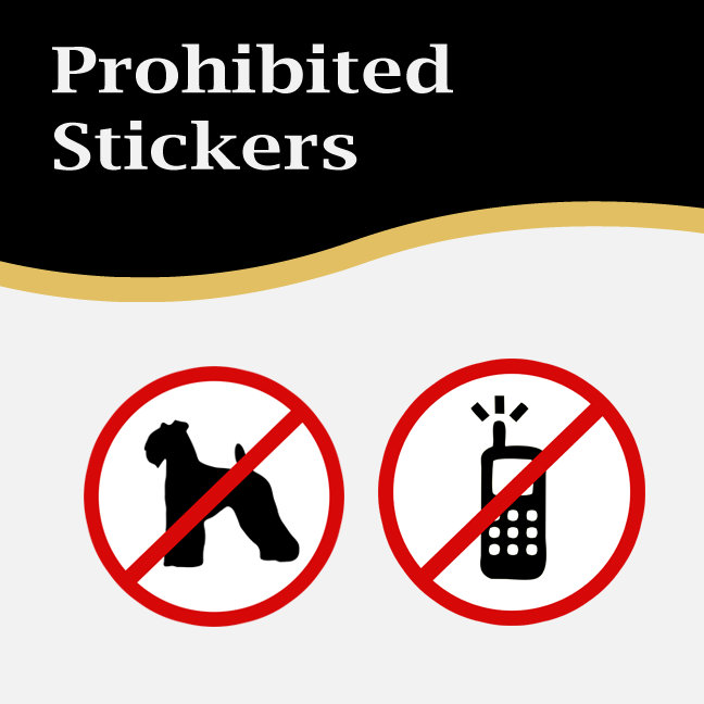 Business Prohibited Stickers