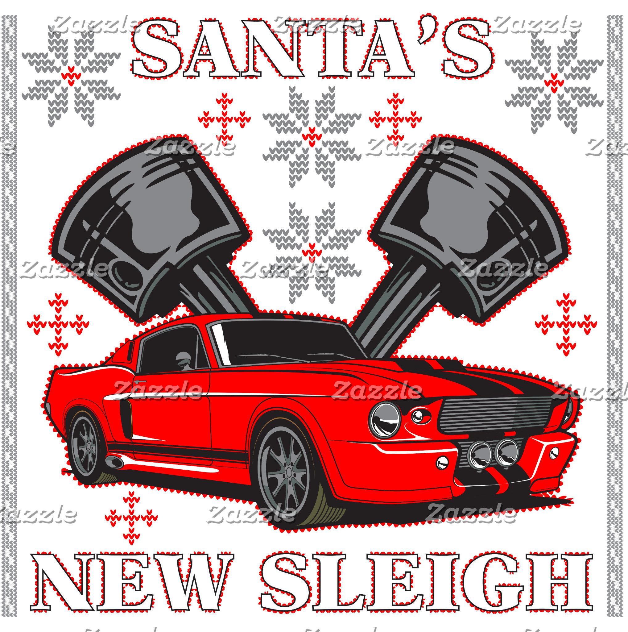Muscle Car Santa's New Sleigh