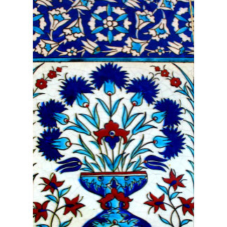 Antique Ottoman Floral Tile Design