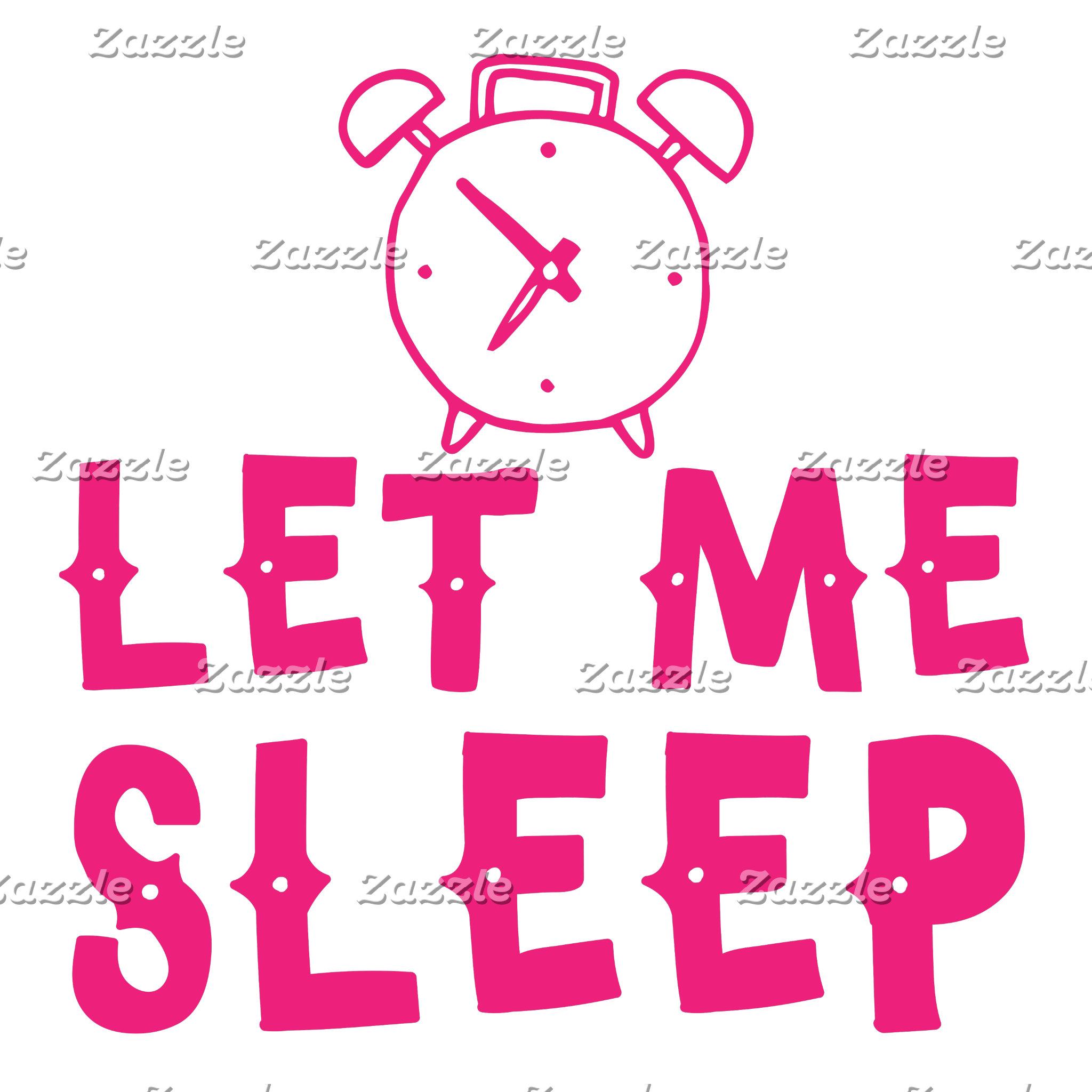 let me sleep pink with alarm clock