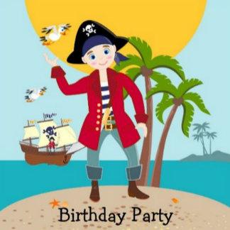 Pirate Kid Birthday Party Theme