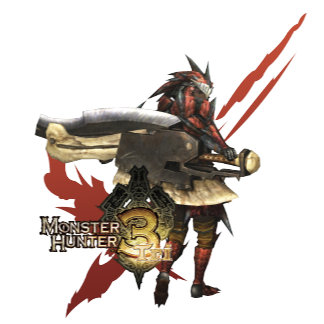 Female Hunter with Switch Axe, Rathalos Armor