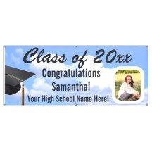 Graduation Photo Vinyl Banners, Yard Sign Printing