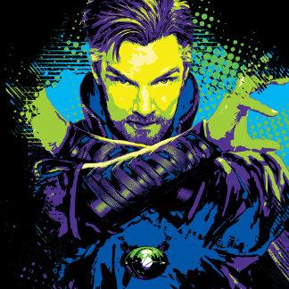 Doctor Strange Neon Paint Graphic