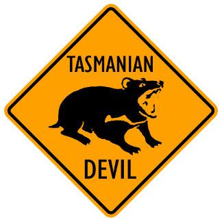 Sign: Tasmanian Devil