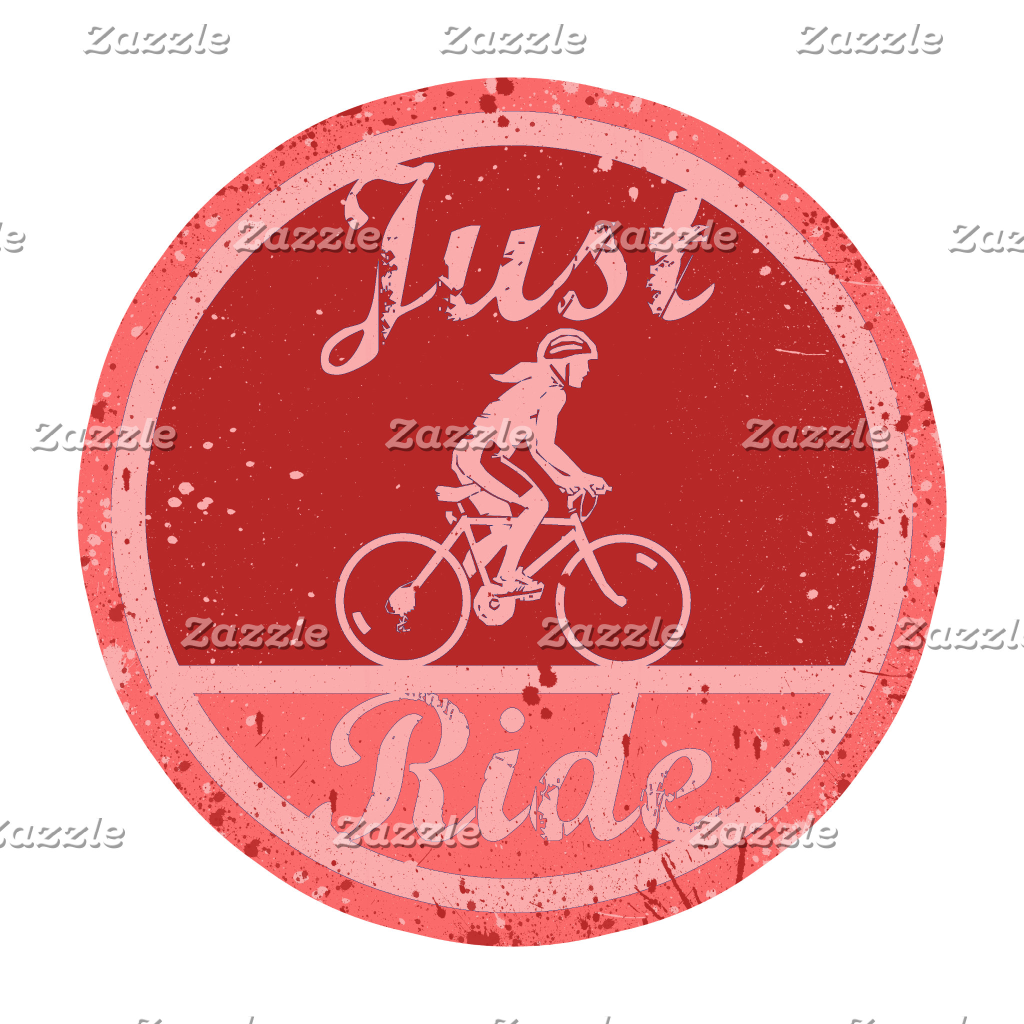 Just Ride Pink Paint Splashes for Female Cyclists