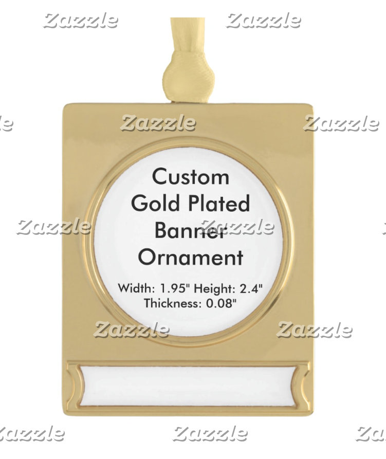 Custom Silver Gold Plated Framed Hanging Ornaments